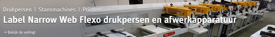 Label Narrow web flexo drukpersen en afwerkapparatuur